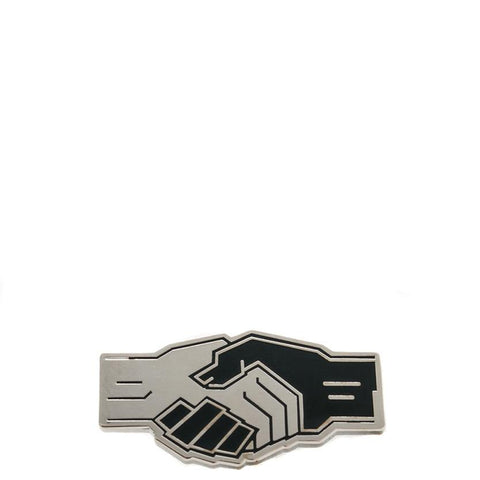 POWERS HANDSHAKE ENAMEL PIN / ENAMEL