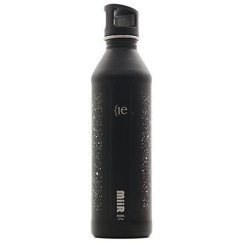{ie x MiiR SLATE BOTTLE 27oz / FLECK FINISH BLACK - 1