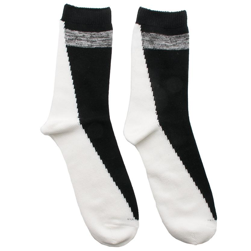 N/A SOCK FIVE ANKLE LENGTH BLACK / WHITE