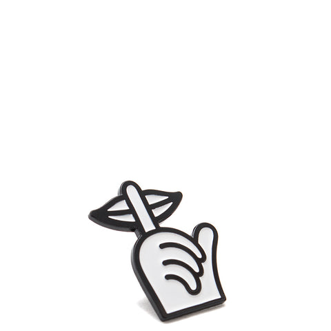 QUIET LIFE SHH HAND LAPEL PIN