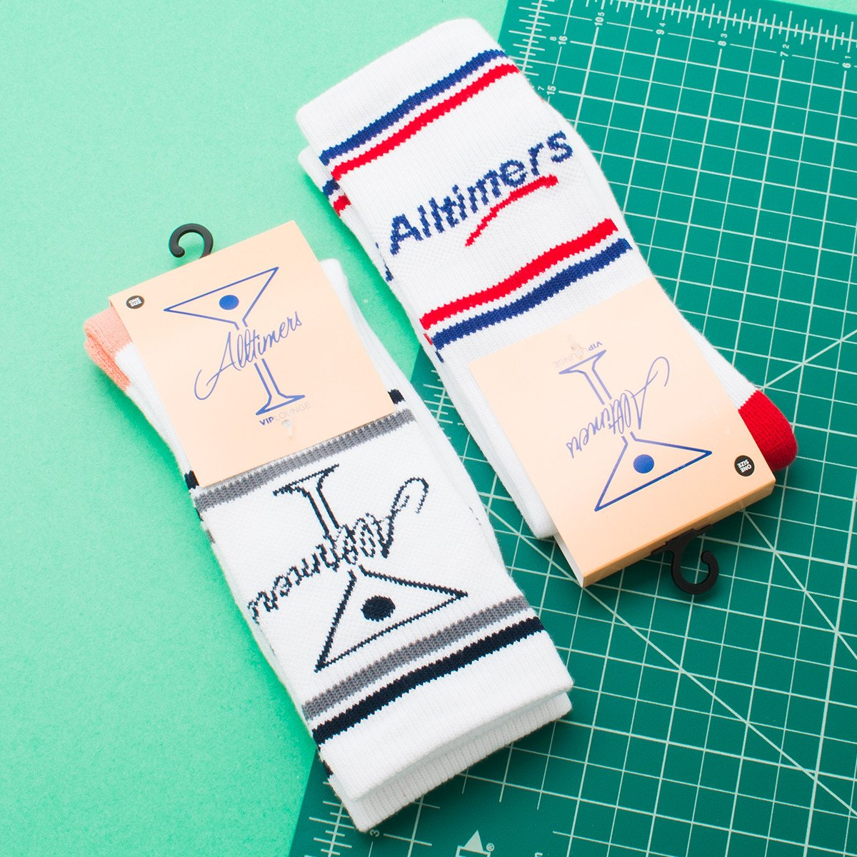 ALLTIMERS TINI SOCKS / PEACH