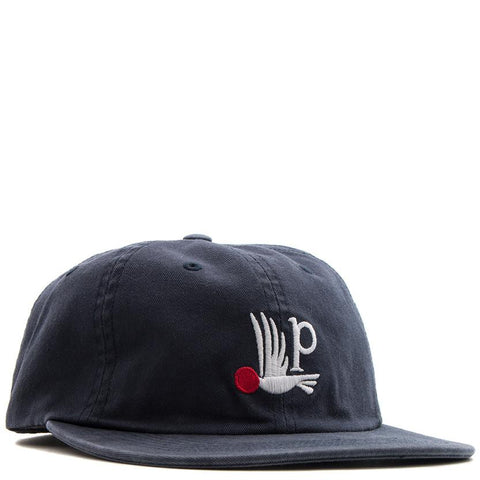 BY PARRA BIRD P 6 PANEL HAT / NAVY