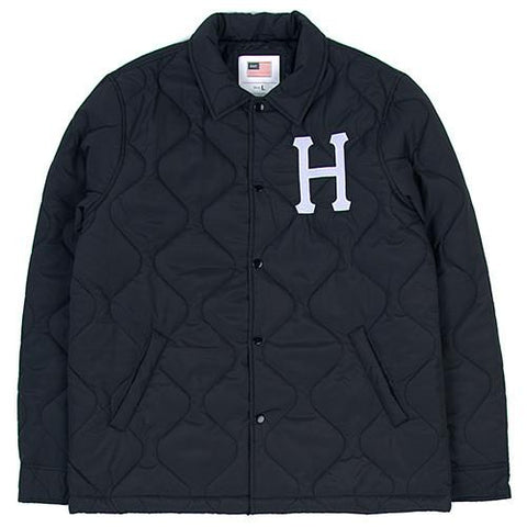 HUF QUILTED COACHES JACKET / BLACK - 1