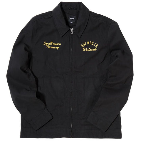 HUF MECHANIC JACKET / BLACK - 1