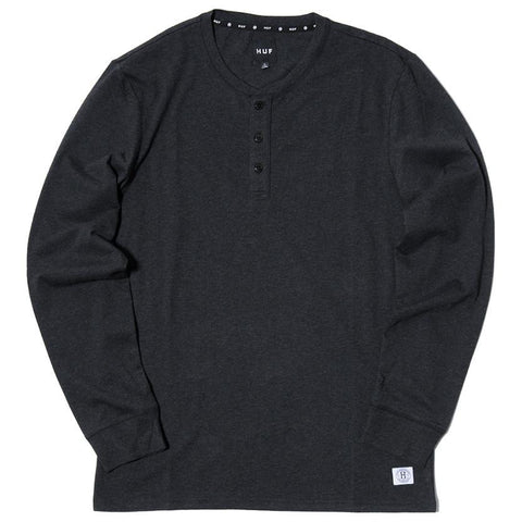 HUF THOMPSON HENLEY / BLACK HEATHER - 1