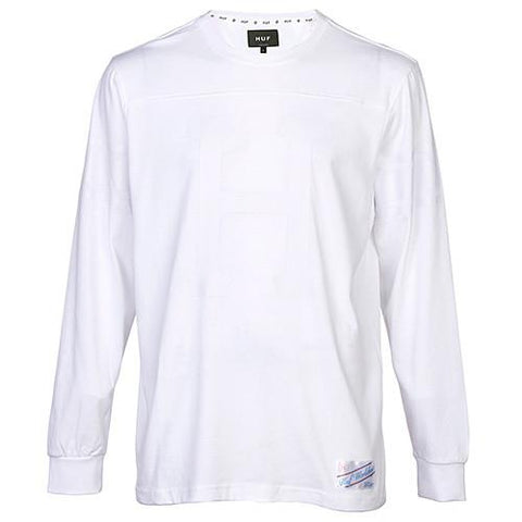 HUF HOME FIELD HEAVY WEIGHT COTTON LS SHIRT / WHITE - 1