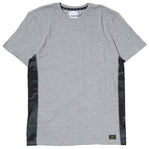 HUF WHITE LABEL COVERT TRAINING POCKET KNIT T-SHIRT / GREY HEATHER - 1