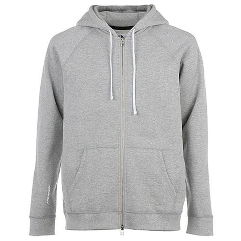 LIVESTOCK ZIP HOODY LOGO / HEATHER GREY - 1