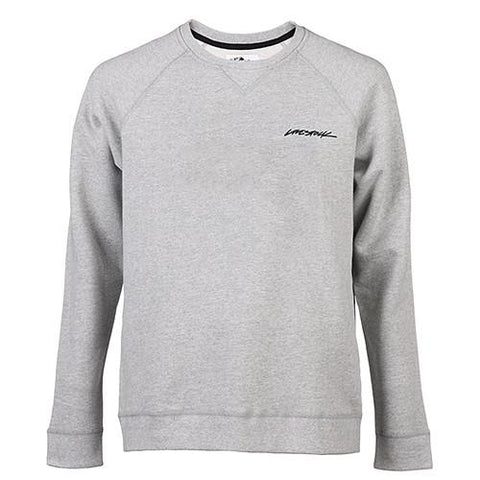 LIVESTOCK CREWNECK LAPEL LOGO / HEATHER GREY - 1