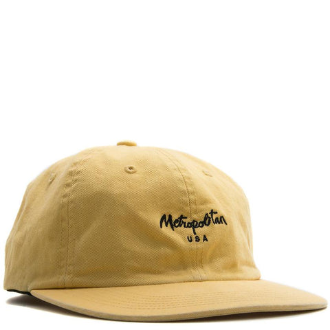 METROPOLITAN HAT / GARMENT DYED YELLOW - 1