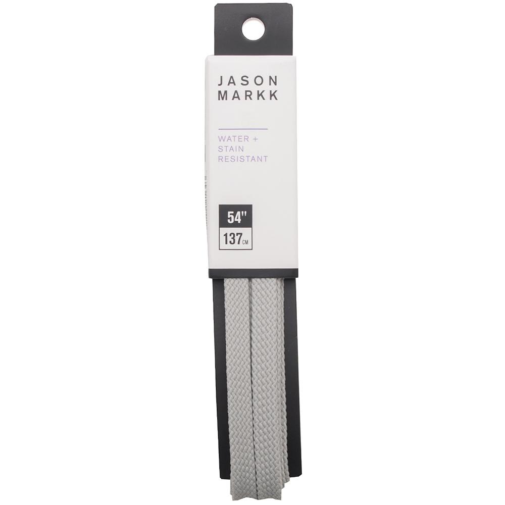 "Jason Markk Flat Shoelaces 54"" / Grey - Deadstock.ca"