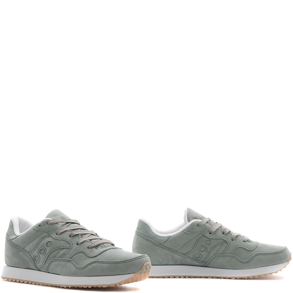 style code S70360-2. SAUCONY DXN TRAINER CL NUBUCK / GREEN
