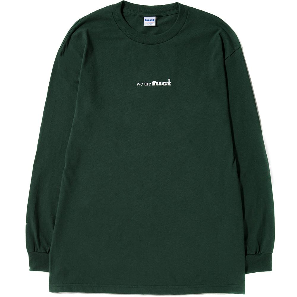 Style code FCTSDFW1704. FUCT SSDD FUCT ADVERTISEMENT 1991 LONG SLEEVE T-SHIRT / FOREST GREEN