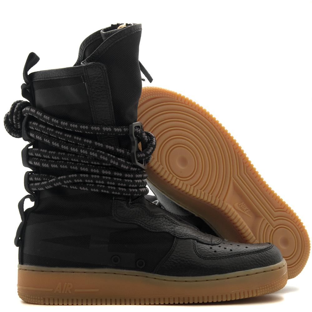 Style code AA1128-001. NIKE SF AIR FORCE 1 HI BOOT / BLACK