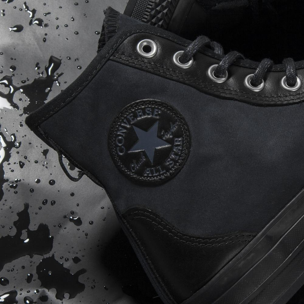 CONVERSE CTAS '70 LEATHER NYLON HIKER HI / BLACK