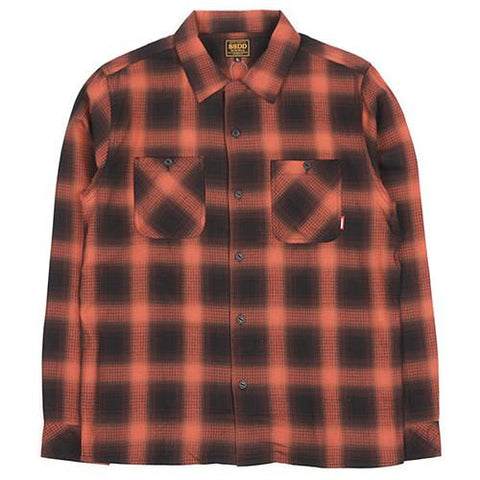 FUCT SSDD OMBRE CHECK BUTTON UP SHIRT / RED - 1