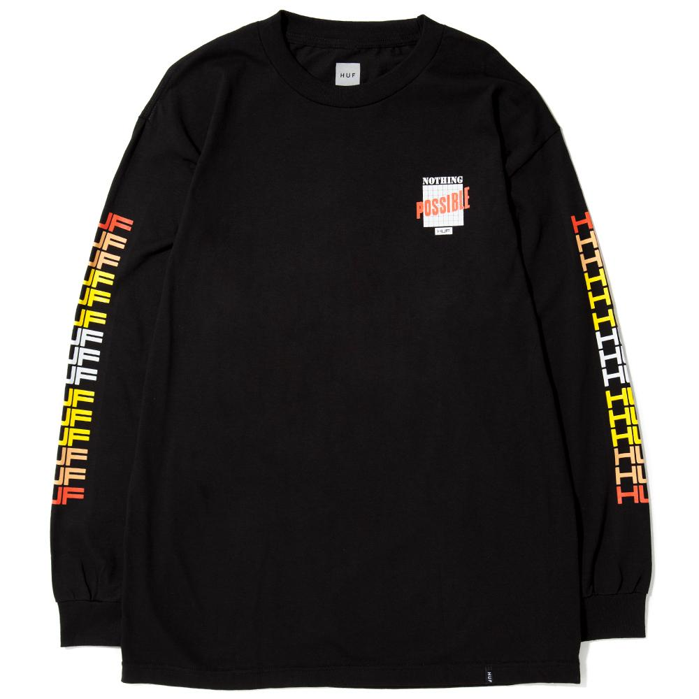 HUF POSSIBLE LONG SLEEVE T-SHIRT / BLACK - Deadstock.ca