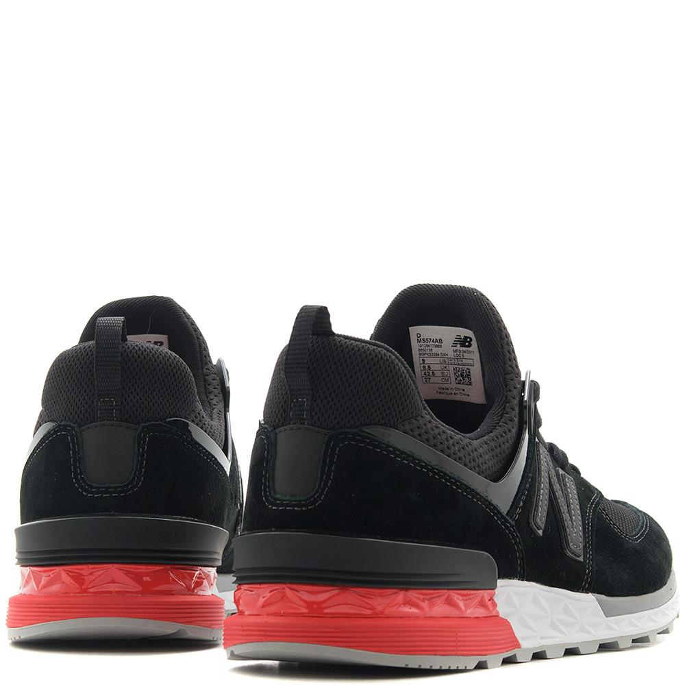 Style code MS574AB. NEW BALANCE MS574AB BLACK / RED