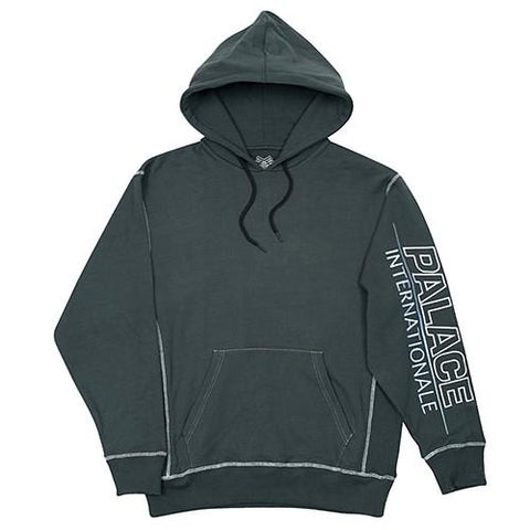 PALACE INTERNATIONALE PULLOVER HOOD / GREEN - 1