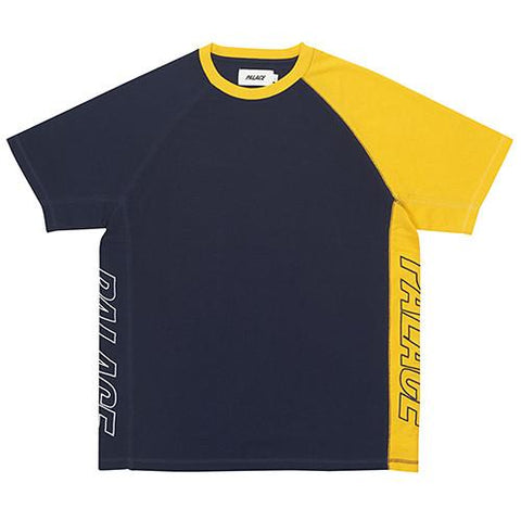 PALACE INTERNATIONALE PIQUE T-SHIRT NAVY / YELLOW - 1