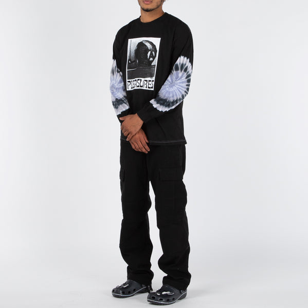 Pleasures Haircut Tie Dye Long Sleeve / Black
