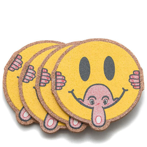 POWERS KILROY SMILEY COASTERS / CORK . style code POW14COR