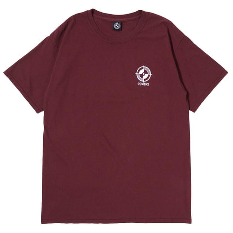 POWERS NC-17 T-SHIRT / DEEP MAROON - 1
