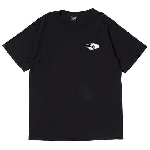 POWERS HANDSHAKE T-SHIRT / BLACK - 1