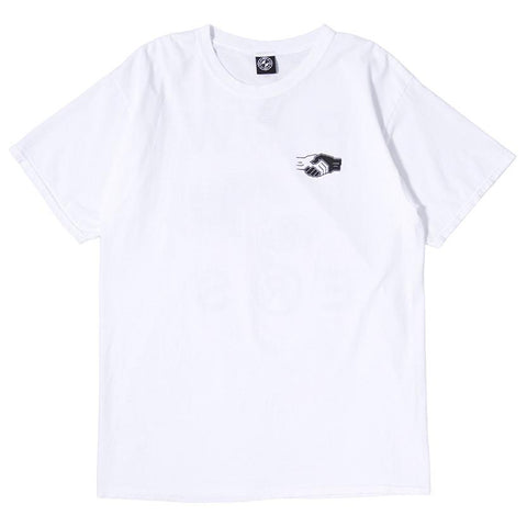 POWERS HANDSHAKE T-SHIRT / WHITE - 1
