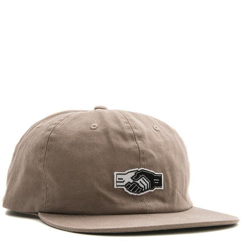 POWERS HANDSHAKE 6 PANEL SNAPBACK / KHAKI - 1