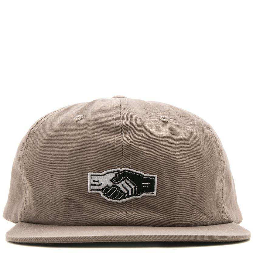 POWERS HANDSHAKE 6 PANEL SNAPBACK / KHAKI - 2