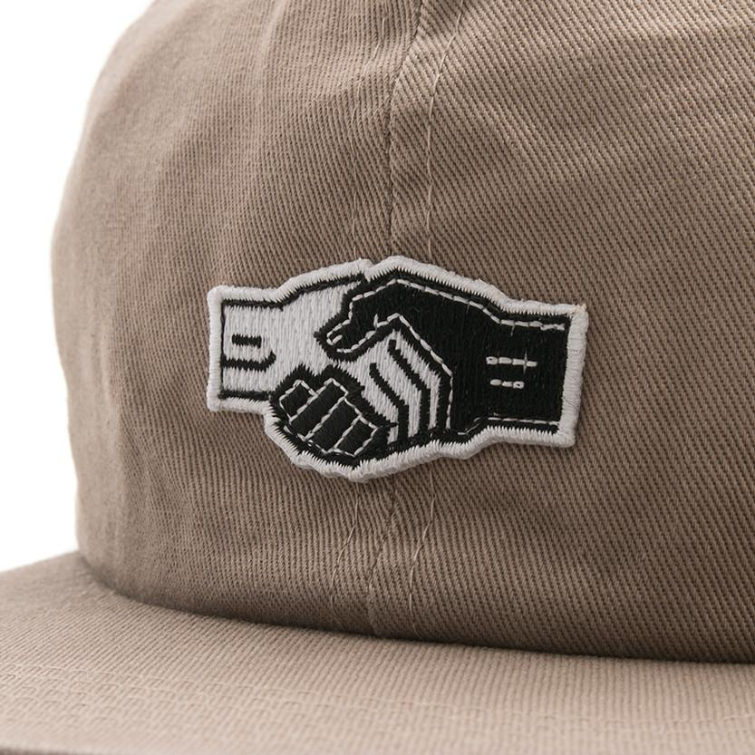 POWERS HANDSHAKE 6 PANEL SNAPBACK / KHAKI - 3