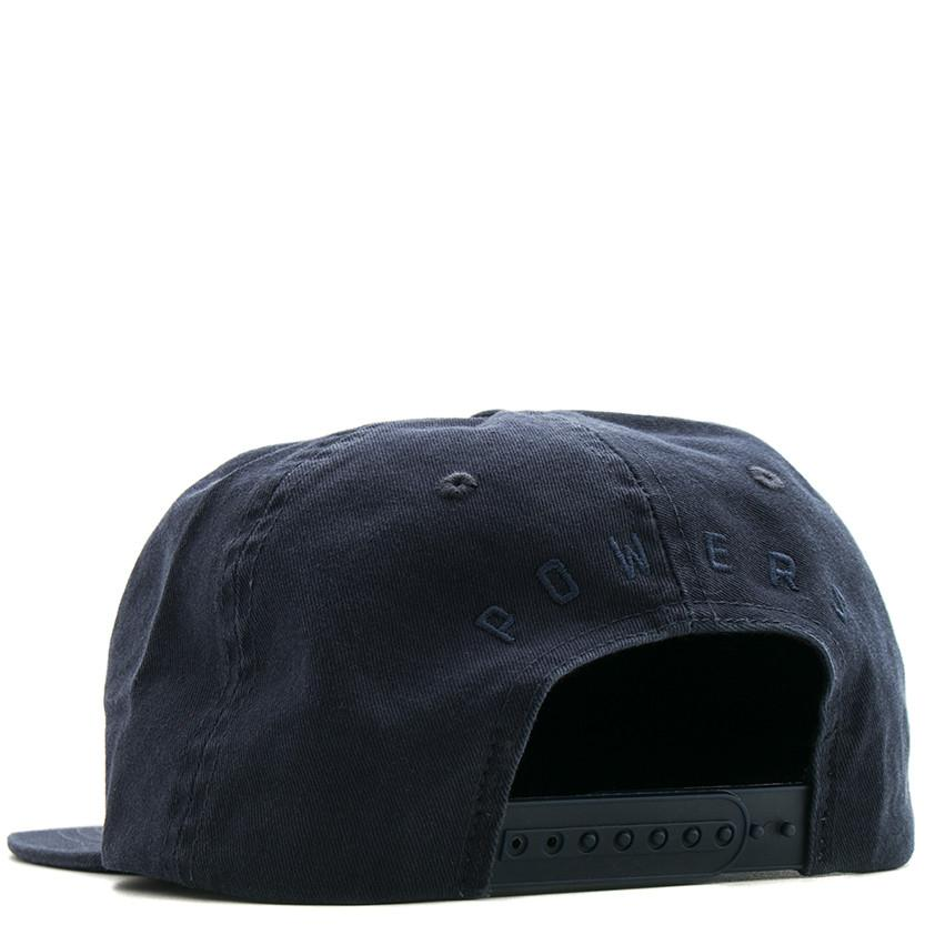 POWERS TARGET 6 PANEL SNAPBACK / NAVY