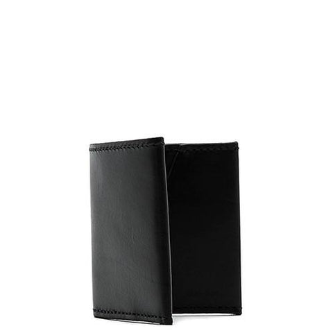 ALTERIOR VEGETABLE TANNED COWHIDE BI-FOLD WALLET / BLACK - 1