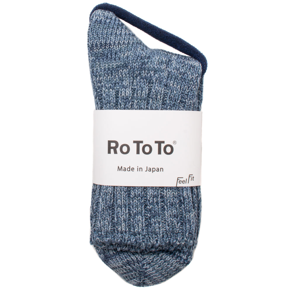 R1188ICE Rototo Denim Tone Socks / Ice Denim