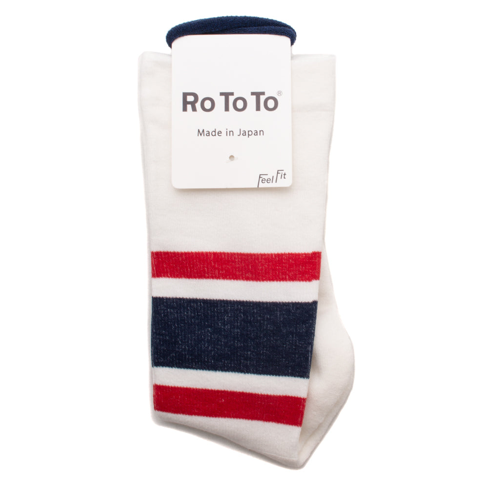 RoToTo Daily Compression Socks Red / Navy - Deadstock.ca