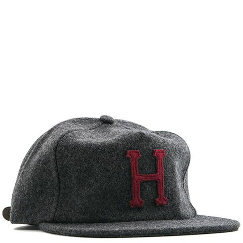 HUF WHITE LABEL WOOL CLASSIC H STRAPBACK / CHARCOAL - 1