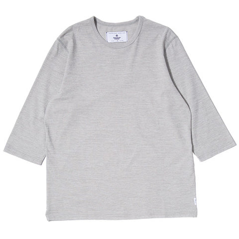 REIGNING CHAMP TIGER 3/4 SLEEVE CREWNECK / GREY - 1