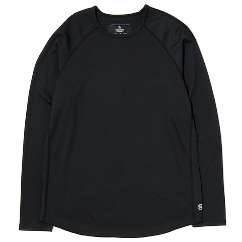 REIGNING CHAMP LONG SLEEVE CREWNECK HONEYCOMB MESH / BLACK - 1