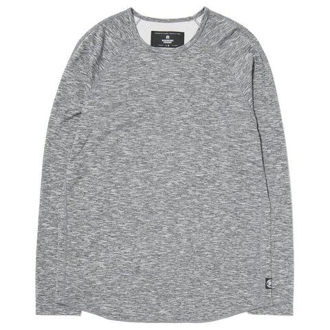 REIGNING CHAMP LONG SLEEVE CREWNECK HONEYCOMB MESH / HEATHER BLACK - 1
