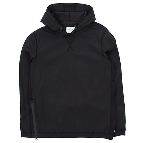 REIGNING CHAMP PULLOVER SIDE ZIP HOOD STRETCH NYLON / BLACK - 1
