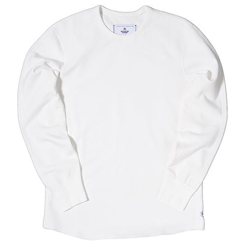 REIGNING CHAMP MID WEIGHT TERRY SCALLOPED CREWNECK / WINTER WHITE - 1