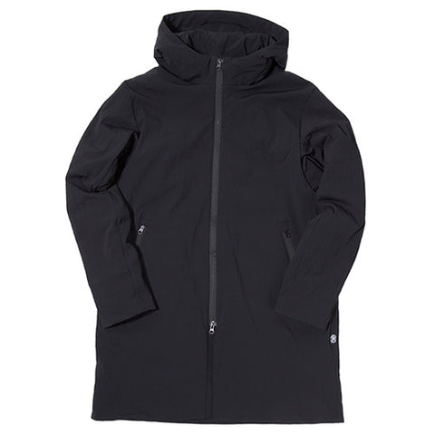 REIGNING CHAMP STRETCH NYLON DWR POLARTEC ALPHA INSULATION SIDELINE JACKET / BLACK - 1