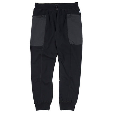 REIGNING CHAMP MID WEIGHT TERRY HONEYCOMB STRETCH WOVEN PANT / BLACK - 1