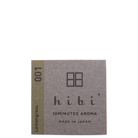 HIBI HERB FRAGRANCE / LEMONGRASS - 8 STICKS