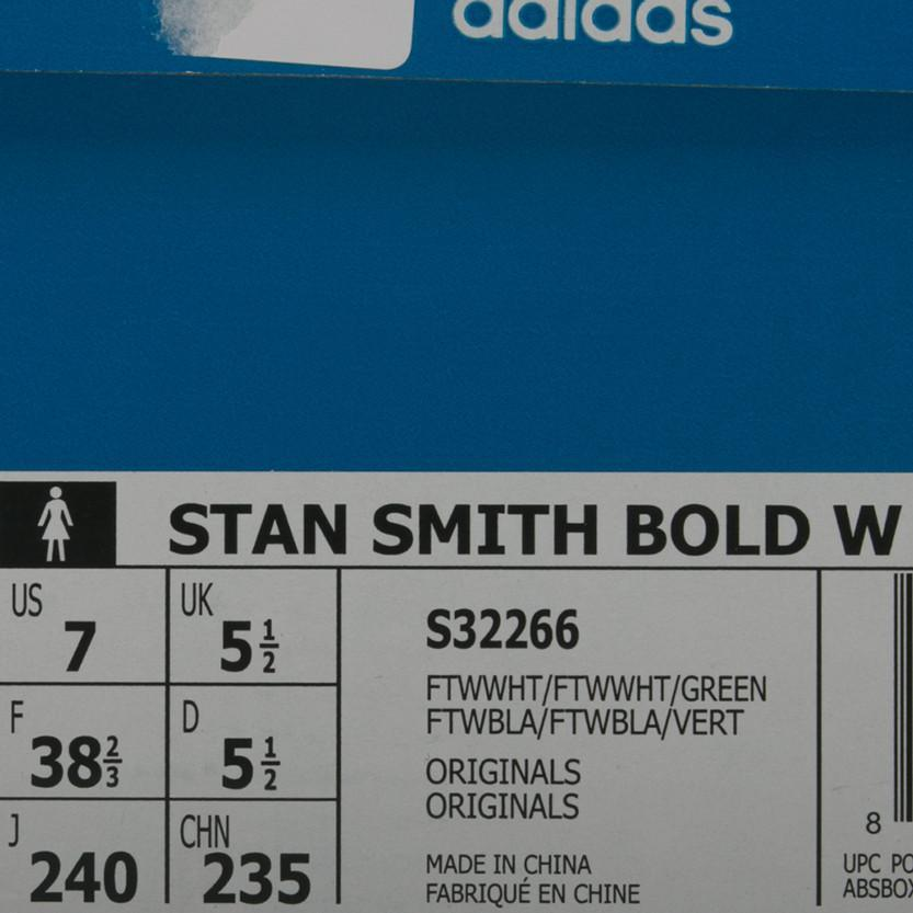 ADIDAS WOMEN'S BOLD STAN SMITH / WHITE - 8