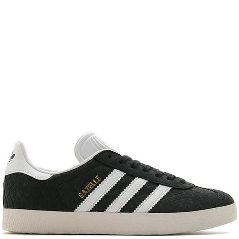ADIDAS WOMEN'S GAZELLE SNAKESKIN / CORE BLACK - 1
