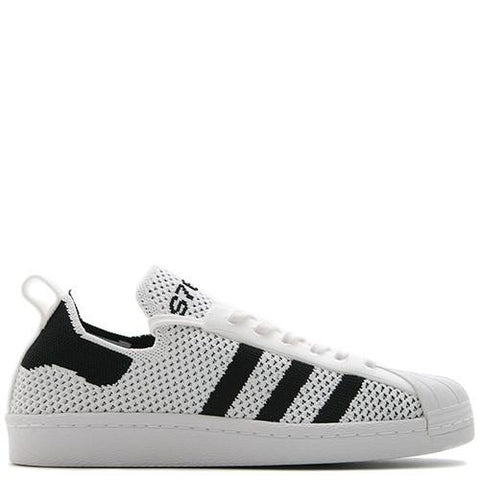 ADIDAS WOMEN'S SUPERSTAR 80'S PRIMEKNIT / WHITE - 1