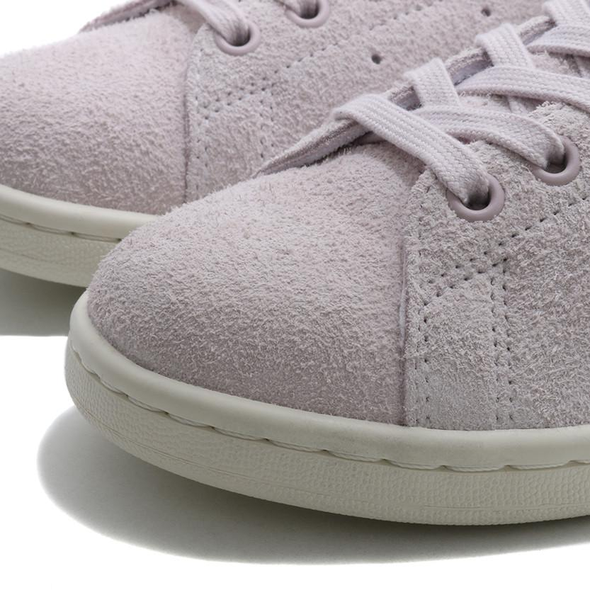 ADIDAS WOMEN'S STAN SMITH HAIRY SUEDE / ICE PURPLE - 5