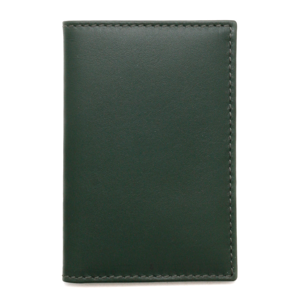 SA6400BGR Comme Des Garcons Classic Leather Line Wallet / Bottle Green